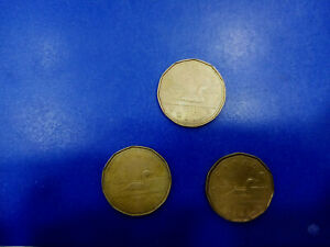 CANADA COIN LOT OF DOLLAR 1987   2X1989 3PCS   T2695