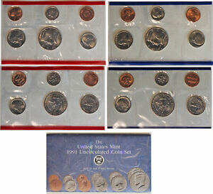1991 US MINT SET P&D  OGP  10 COINS