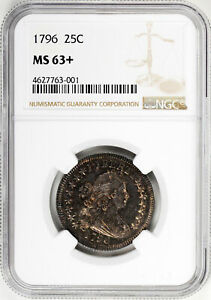 Click now to see the BUY IT NOW Price! 1796 DRAPED BUST 25C NGC MS 63