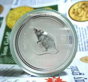 Click now to see the BUY IT NOW Price! 2007 / 2008 PERTH MINT 1 OZ SILVER LUNAR YEAR MOUSE COIN S1 AUSTRALIA