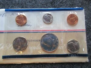 1986 5 COIN MINT SET P MINT SEALED WITH ENVELOPE SPECIAL COINS DAY 03028