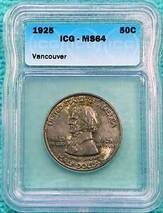 1925 MS 64 FORT VANCOUVER CENTENNIAL SILVER ONLY 14 994 MINTED LOT 2