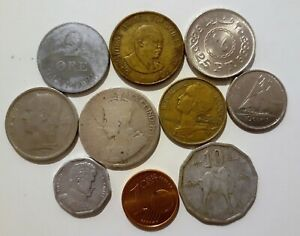 WORLD 10 DIFFERENT COINS LOT C