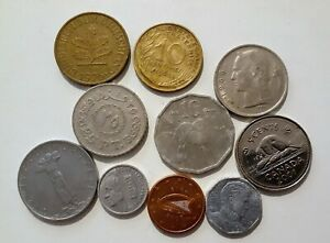 WORLD 10 DIFFERENT COINS LOT A
