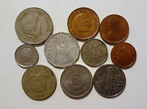 WORLD 10 DIFFERENT COINS LOT E