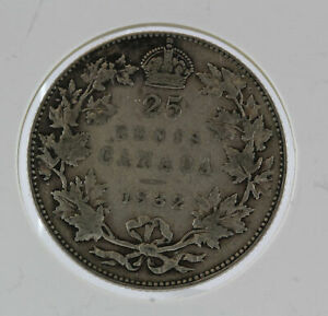 CANADA 1932 25 CENTS GEORGE V .925 SILVER