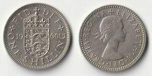 1960 GREAT BRITAIN 1 SHILLING COIN ENGLISH VERSION