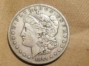 Click now to see the BUY IT NOW Price! 1884 S MORGAN SILVER DOLLAR LIBERTY HEAD $1 COIN AMERICAN EAGLE VF DETAILS