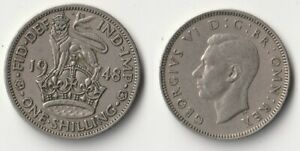 1948 GREAT BRITAIN 1 SHILLING COIN ENGLISH VERSION