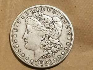 Click now to see the BUY IT NOW Price! 1885 S MORGAN SILVER DOLLAR LIBERTY HEAD $1 COIN AMERICAN EAGLE FINE VF