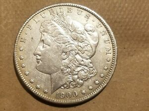 Click now to see the BUY IT NOW Price! 1900 P MORGAN SILVER DOLLAR LIBERTY HEAD $1 COIN AU DETAILS