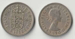 1956 GREAT BRITAIN 1 SHILLING COIN ENGLISH VERSION