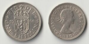 1966 GREAT BRITAIN 1 SHILLING SCOTTISH VERSION
