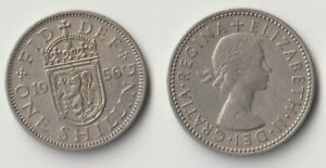 1956 GREAT BRITAIN 1 SHILLING COIN SCOTTISH VERSION