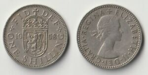 1958 GREAT BRITAIN 1 SHILLING SCOTTISH VERSION