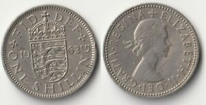 1962 GREAT BRITAIN 1 SHILLING COIN ENGLISH VERSION