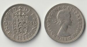 1955 GREAT BRITAIN 1 SHILLING COIN ENGLISH VERSION