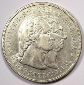 1900 LAFAYETTE COMMEMORATIVE SILVER DOLLAR $1   SHARP DETAILS    TYPE