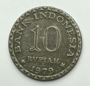 DATED : 1979   INDONESIA   10 RUPIAH COIN   BANK INDONESIA