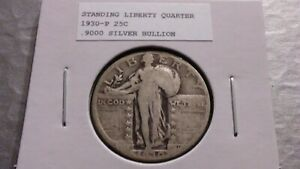 1930P 25C SILVER STANDING LIBERTY QUARTER 4896