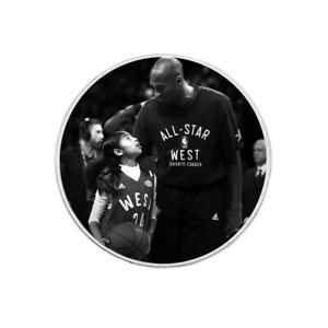 KOBE BRYANT&DOUGHTER 999.9 SILVER PLATED CHALLENGE COIN METAL COIN COLLECTIONS