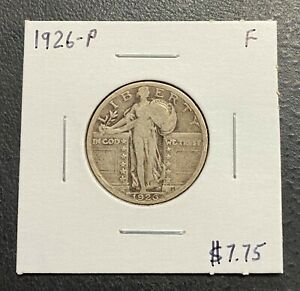 1926 P U.S. STANDING LIBERTY QUARTER    F CONDITION  $2.95 MAX SHIPPING  C3351