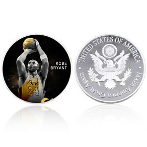 KOBE BYRANT 999.9 SILVER PLATED METAL COIN FOREVER STAR CHALLENGE COIN CRAFT