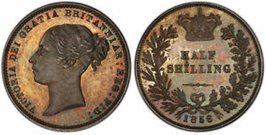 Click now to see the BUY IT NOW Price! GREAT BRITAIN VICTORIA 1856 AR PATTERN HALF SHILLING PCGS PR66 SUPERB ORIG. SURF