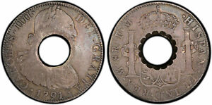 Click now to see the BUY IT NOW Price! DOMINICA  1798  AR DOLLAR OF 11 BITTS. PCGS VF35 KM 3.3; C 22; PRID 21 ON MEX 8R