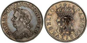 Click now to see the BUY IT NOW Price! GREAT BRITAIN OLIVER CROMWELL 1658 AR SHILLING. NGC MS63 S 3228; ESC 254