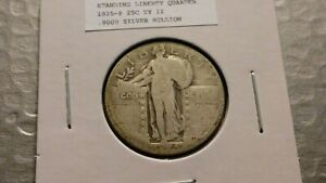 1925P 25C SILVER STANDING LIBERTY QUARTER 8979