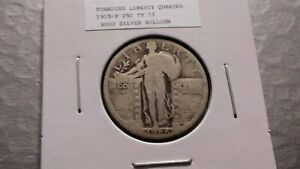 1925P 25C SILVER STANDING LIBERTY QUARTER 9445