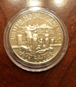 COMMEMORATIVE US HALF DOLLAR PROOF BEAUTIFUL CAPSULED A NATION OF IMMIGRANTS