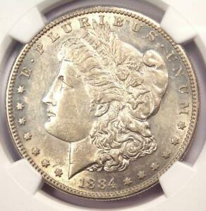 1884 S MORGAN SILVER DOLLAR $1 COIN   CERTIFIED NGC AU53    DATE IN AU53