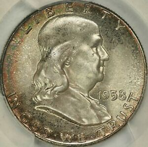 1958 FRANKLIN HALF DOLLAR PCGS MS67  CAC