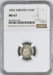 Click now to see the BUY IT NOW Price! 1854 LIBERTY SEATED H10C NGC MS 67