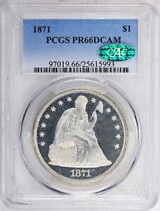 Click now to see the BUY IT NOW Price! 1871 LIBERTY SEATED S$1 PCGS PR 66 DCAM