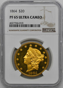 Click now to see the BUY IT NOW Price! 1864 LIBERTY HEAD $20 NGC PR 65 DCAM