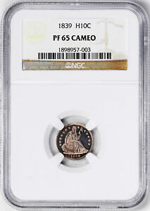 Click now to see the BUY IT NOW Price! 1839 LIBERTY SEATED H10C NGC PR 65 CAM