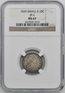 Click now to see the BUY IT NOW Price! 1820 CAPPED BUST 10C NGC MS 67