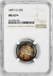 Click now to see the BUY IT NOW Price! 1897 O BARBER 25C NGC MS 67