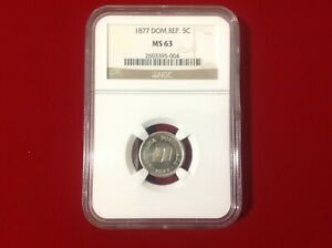 Click now to see the BUY IT NOW Price! 1877 NGC MS63 DOMINICAN REPUBLIC 5 CENTAVOS .  IN MS .