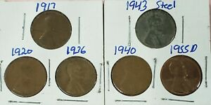 COIN COLLECTION STARTER SET ONE TEENS 20S 30S 40S 50S GOOD STARTER SET