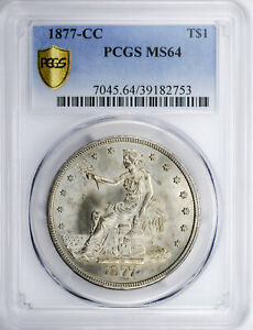 Click now to see the BUY IT NOW Price! 1877 CC TRADE T$1 PCGS MS 64