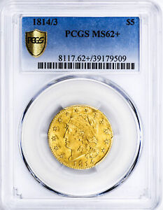 1814/3 CAPPED BUST $5 PCGS MS 62