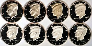Click now to see the BUY IT NOW Price!  8  PROOF KENNEDY HALF DOLLARS 2007S 2014S  K9027