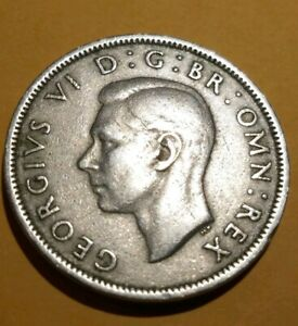 1951 GREAT BRITAIN TWO SHILLINGS NICE COLLECTOR GRADE .