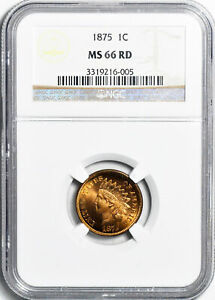 Click now to see the BUY IT NOW Price! 1875 INDIAN BRONZE 1C NGC MS 66 RD