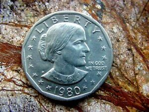 PAIR OF 1980 P  SUSAN B ANTHONY  DOLLAR  UNCIRCULATED  2
