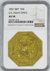 Click now to see the BUY IT NOW Price! 1852 887 ASSAY $50 NGC AU 58